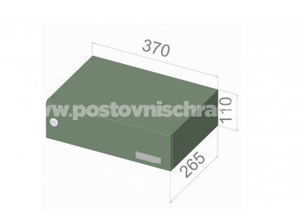 poštovní schránka B047 (rovná -malá hloubka) - 370 x 110 x 265