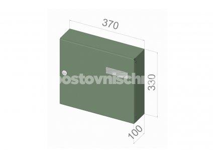 poštovní schránka A04 (hloubka jen 100mm) - 370 x 330 x 100