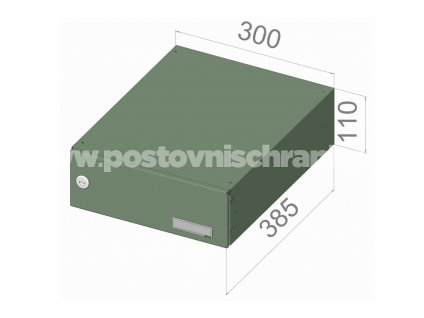 poštovní schránka B04 (rovná) - 300 x 110 x 385 -  NEJBĚŽNĚJŠÍ TYP
