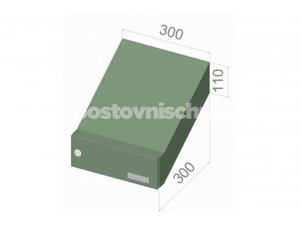 poštovní schránka D04 (šikmá) - 300 x 110 x 300 - NEJBĚŽNĚJŠÍ TYP