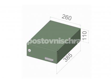 poštovní schránka B046 (rovná -zúžený model) - 260 x 110 x 385