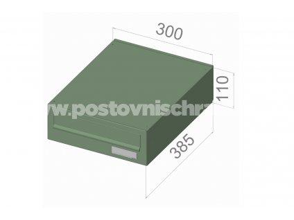 typ B02 KOMFORT RAL + lem - 300x110x385 (ležatý model) přední vhoz-zadní výběr