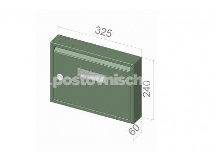 typ E01 BASIC RAL + lem - 325x240x60 (nástěnný model) přední vhoz-přední výběr