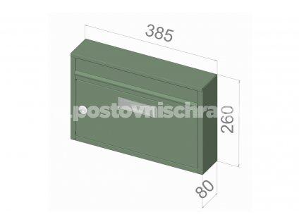 typ G01 KOMFORT RAl + lem - 385x260x80 (nástěnný model) přední vhoz-přední výběr