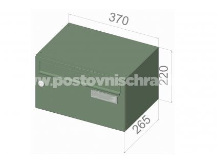 typ B217 RAL + lem - 370x220x265 (ležatý model) přední vhoz-přední výběr