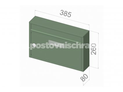 G01 BASIC RAL - 385 x 260 x 80 (nástěnný model)