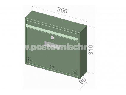 H012 KOMFORT RAL - 360 x 310 x 90 (nástěnný model)