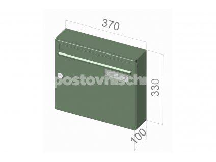 A01 BASIC RAL - 370 x 330 x 100 (nástěnný model)