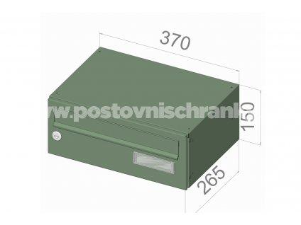 B015 RAL - 370 x 150 x 265 (ležatý model)