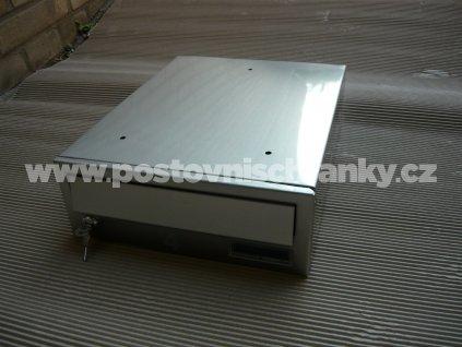 poštovní schránka č 4-LAKOVANÁ - ležatá-300x110x390 (přední vhoz-přední výběr)