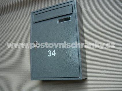 poštovní schránka č 34 RAL  šedý antik