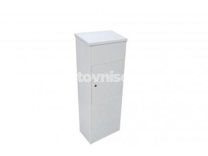 Schránka na poštu + balíky - parcel box - RAL 9016 bílá