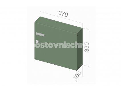 5306 postovni schranka a 04 pro zazdeni standardni ral