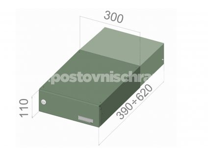 0428 postovni schranka b 042 pro zazdeni standardni ral