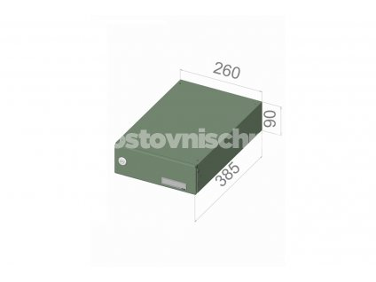 1723 postovni schranka b 0469 pro zazdeni standardni ral