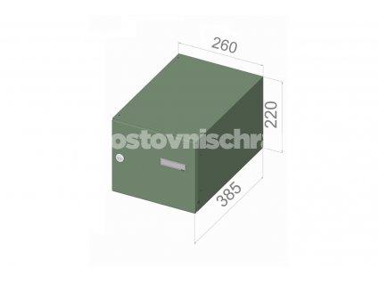 2637 postovni schranka b 246 pro zazdeni standardni ral