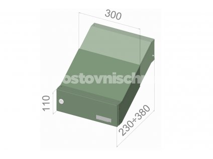 1419 postovni schranka d 041 pro zazdeni standardni ral