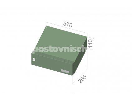 0658 postovni schranka d 047 pro zazdeni standardni ral