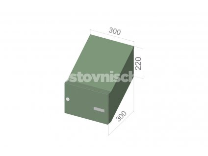 2208 postovni schranka d 24 pro zazdeni standardni ral