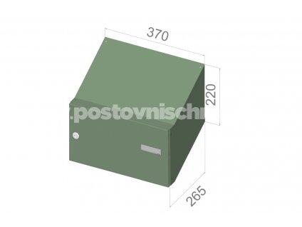 3724 postovni schranka d 247 pro zazdeni standardni ral