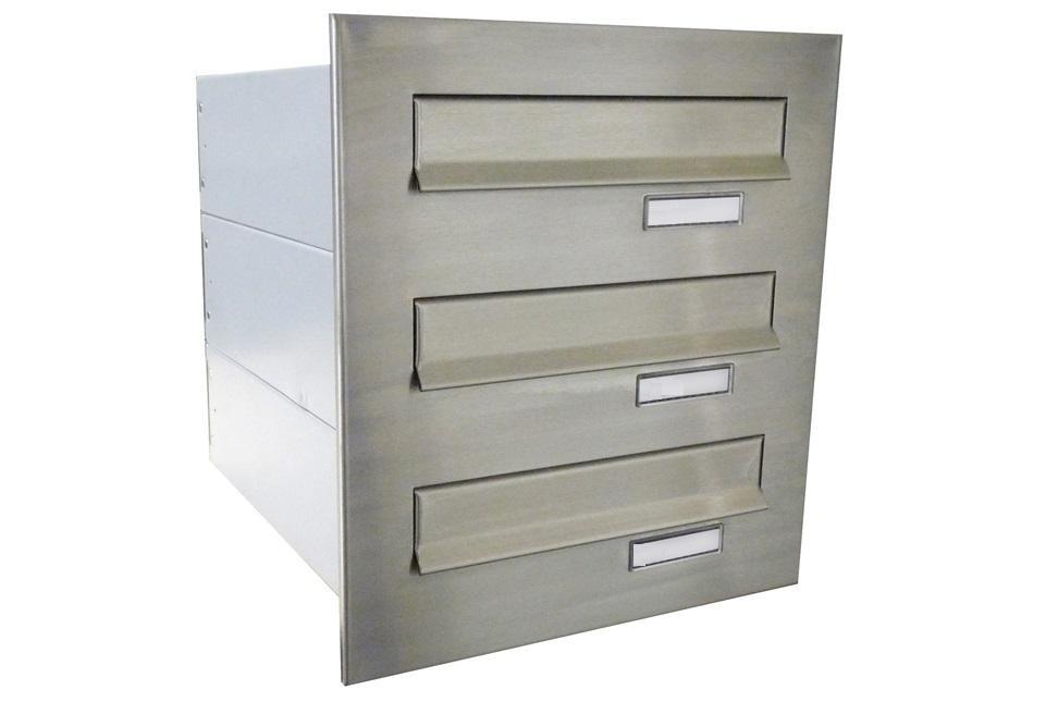 poštovní schránka 3 x B042 NEREZ - regulace hloubky 390-620 mm