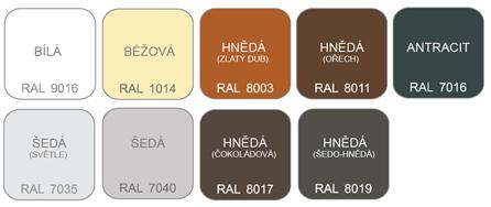 poštovní schránka A050 RAL - KOMPLET (sestava : schránka + čelo) RAL odstín(barva): RAL 8019 (hnědá)