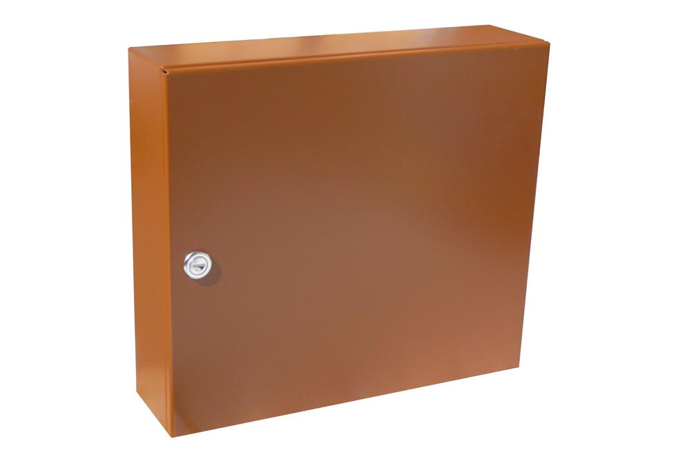 poštovní schránka A050 RAL - KOMPLET (sestava : schránka + čelo) RAL odstín(barva): RAL 8003 ( sv. hnědá)
