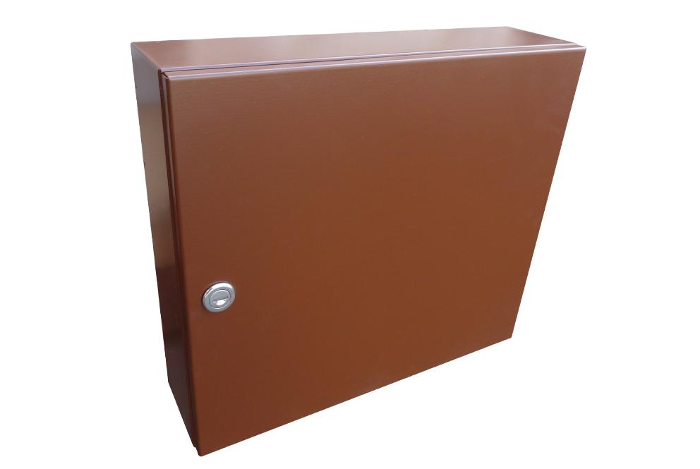 poštovní schránka A050 RAL - KOMPLET (sestava : schránka + čelo) RAL odstín(barva): RAL 8011 ( hnědá)