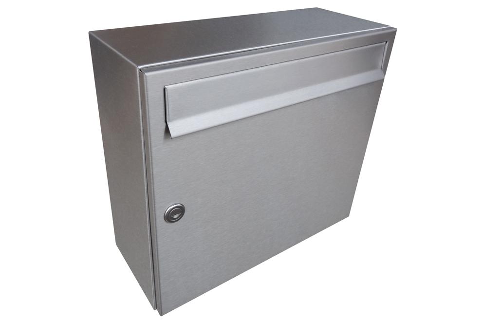 A015 NEREZ - 370 x 330 x 150 (nástěnný model - celonerezová - velkoobjemová) zpracování schránky: samostatně zabalená (připravena pro složení)