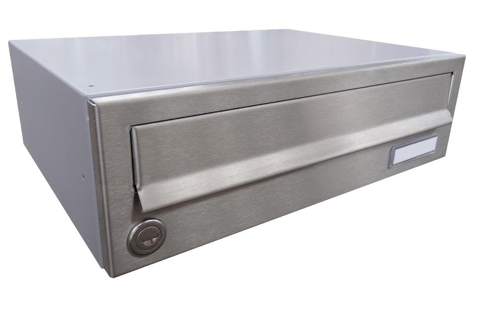 B017 NEREZ (tělo RAL 7040) - 370 x 110 x 265 (ležatý model) zpracování schránky: samostatně zabalená (připravena pro složení)