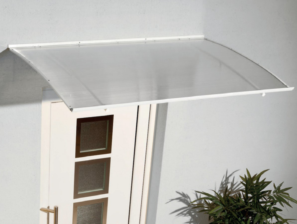 vchodová stříška KLASIK 140 x 980 bílá