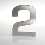 ČÍSLO NEREZ VELIKOST 120 MM (EUROMODE STYL) CÍSLO: číslo 2