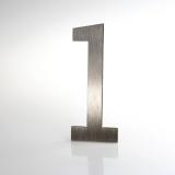 ČÍSLO NEREZ VELIKOST 120 MM (LUCIDA STYL) CÍSLO: číslo 1