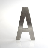ČÍSLO NEREZ VELIKOST 120 MM (LUCIDA STYL) CÍSLO: písmena a-A-b-B-c-C-d-D-e-E