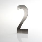 ČÍSLO NEREZ VELIKOST 120 MM (LUCIDA STYL) CÍSLO: číslo 2