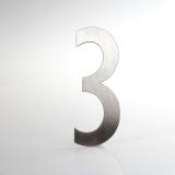 ČÍSLO NEREZ VELIKOST 120 MM (LUCIDA STYL) CÍSLO: číslo 3
