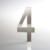 ČÍSLO NEREZ VELIKOST 120 MM (LUCIDA STYL) CÍSLO: číslo 4