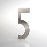 ČÍSLO NEREZ VELIKOST 120 MM (LUCIDA STYL) CÍSLO: číslo 5