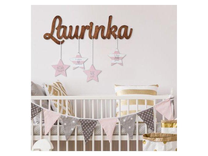 Dětské jméno s hvězdami - holčičí