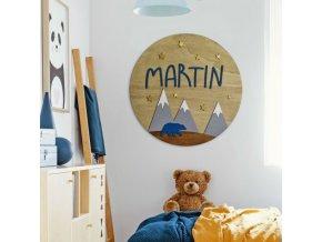 Dětský emblém se jménem: Měsíc a hvězdy