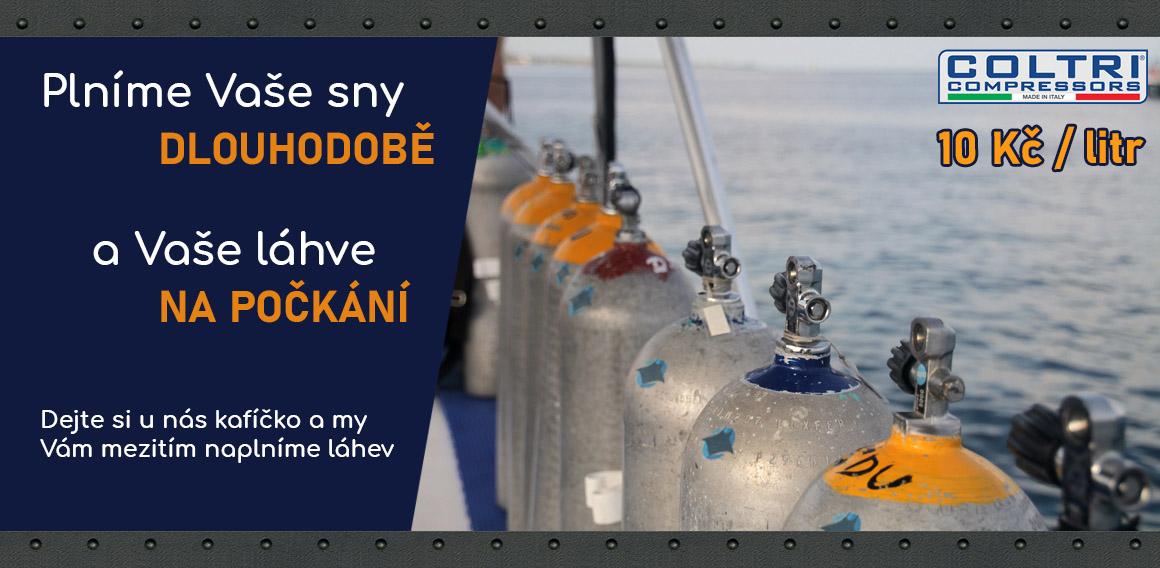 Plnění potápěčských láhví