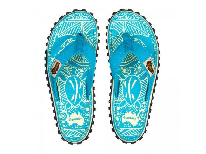 Žabky Gumbies Islander Turquoise