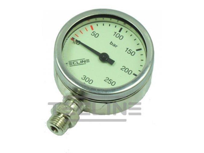 Manometr Tecline 300 bar 52 mm nikl