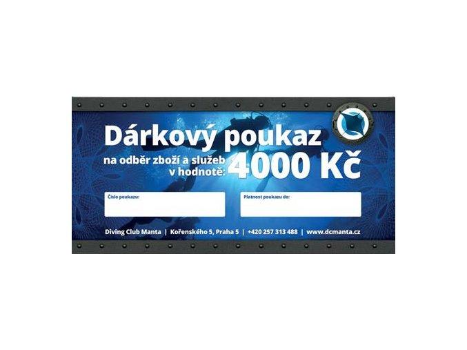 mantaclub poukaz 4000