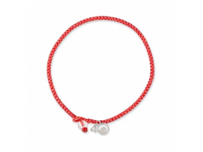 coral reef braided bracelet