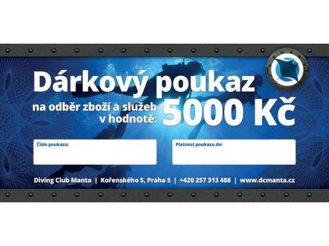 mantaclub poukaz 5000