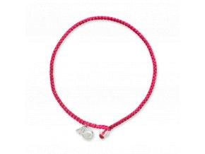 4ocean Pink Flamingo Braided Bracelet