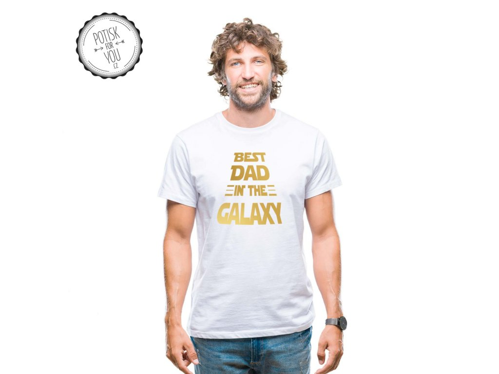 best dad in the galaxy white gold
