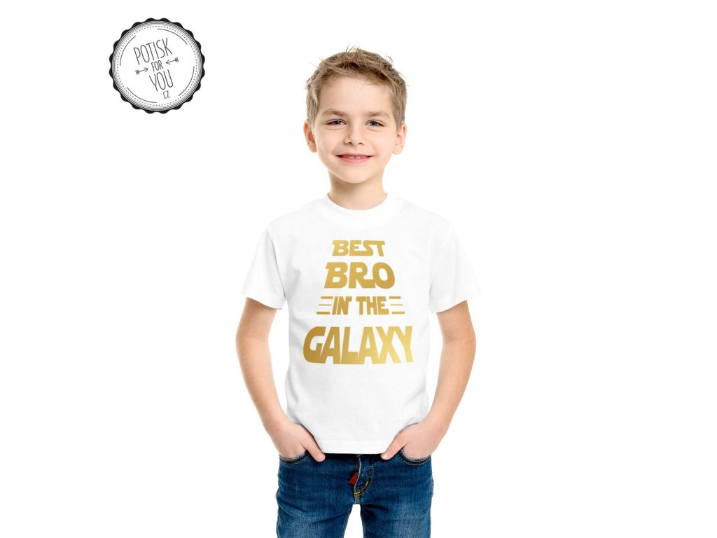 best bro in the galaxy white gold