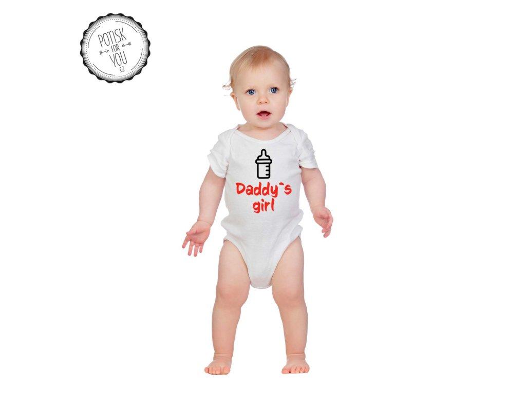 daddys girl white black red